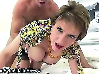 British European  Big Tits Milf Big Tits Stockings British Fuck