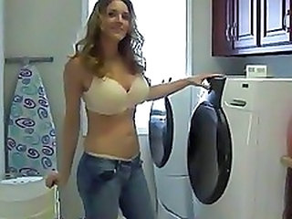 Forget Laundry Milf Suck Cock And Eats Cum
