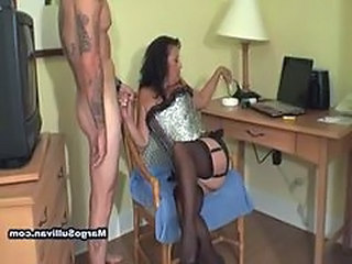 Handjob Smoking Stockings Handjob Cock Handjob Mature Mature Stockings
