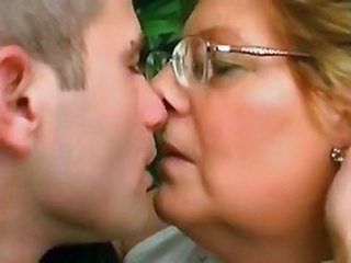 Glasses Outdoor Kissing Chubby Ass Granny Cock Granny Young