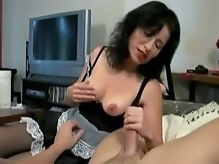 Maid Handjob  Uniform Handjob Cumshot