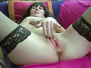 Masturbating Close up Pussy Milf Stockings Stockings