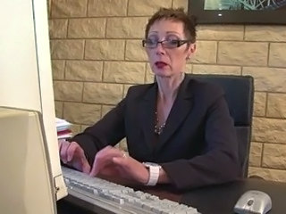 Secretary Mature Office Glasses Mature Mature Ass