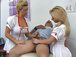 Hot and busty nurses give a handjob tubes