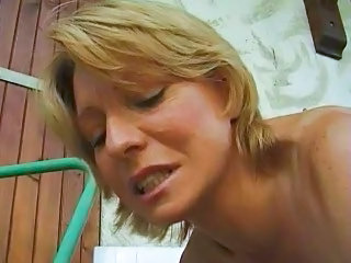 Colette Sigma Mature Blonde Fist Anal In Car