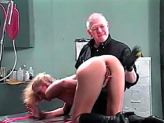 Wife is given an enema by her husband
