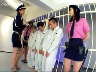 3 Jailer Girls In Uniform Raping 3guys R...