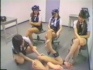 Japanese Police Women Strap On Fuck Criminal