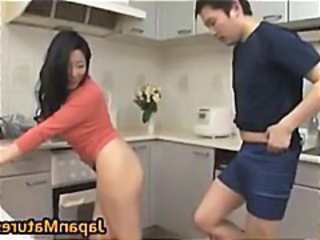 Mature Kitchen Old and Young Asian Mature Japanese Mature Kitchen Mature