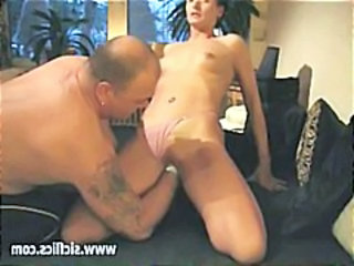 Brunette amateur in a couple of scenes getting brutally fisted