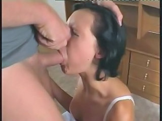 Cute Girl Gets Her Throat Stuffed