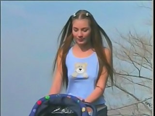 Babysitter Cute Long Hair Cute Teen Outdoor Outdoor Teen