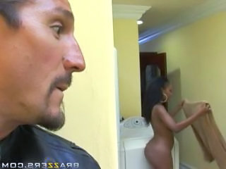 Amazing ebony wife with big boobs getting her pussy fucked r...