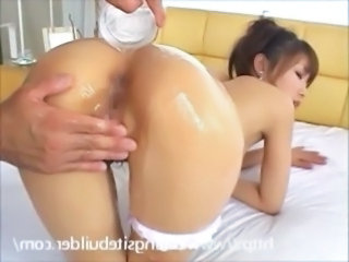 Japanese girl oil massage, suck and fuck hard! free