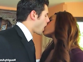 Kissing Ebony Interracial Boss Milf Office Office Milf
