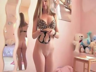 Courtney amazing blonde babe getting naked and posing and fi...