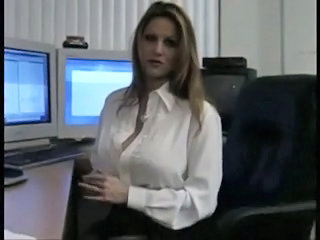 star tits gets down in the office