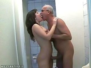 Toilet Kissing Old and Young Grandpa Kissing Teen Old And Young