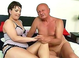 Chubby Old And Young Lingerie Grandpa Old And Young