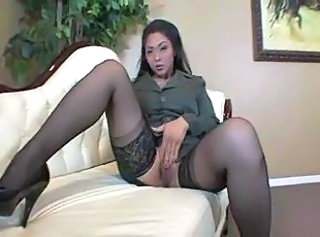 Hot asian on the couch. JOI