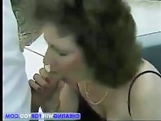 Mature Wife Gets Nasty Facial