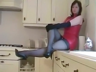Kitchen Latex Mature Kitchen Mature Mature Stockings Mistress