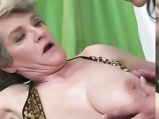 Teen loves busty granny