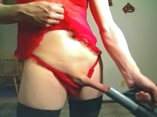 Sissy Bitch XXX Vacuums Her Cock