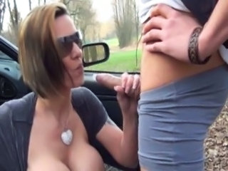 Car Handjob MILF Ass Big Tits Big Tits Ass Big Tits Milf