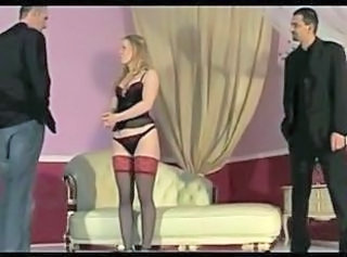 First Whipping for cute blonde OtO