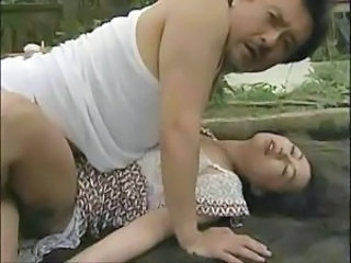 Old And Young Asian Outdoor Old And Young Outdoor Violated