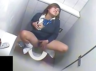 Voyeur Asian Masturbating Toilet Asian