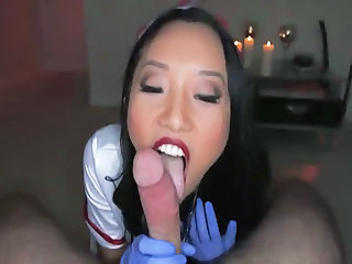 Asian Nurse Outfit Swell up And Fuck