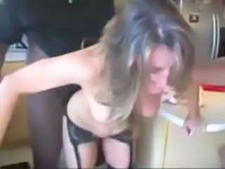 Slut Wife gets dominated and fuked rough by 2 BBC free