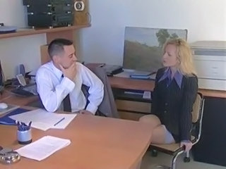 Office French Secretary Office Babe Stockings