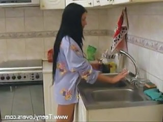 Kitchen European Wife Cheating Wife