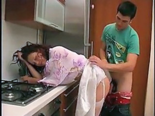 "Cute Russian Mother In Stockings Kitchen Fucked.."" target=""_blank"
