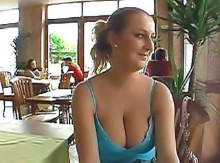 Wet and wild public blowjob