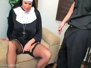 Nun Fishnet  Big Cock Milf Fishnet Milf Stockings