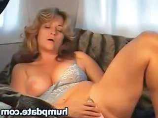 wonderful woman with lovely breast dildoing