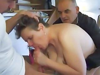 french older  n34 bbw butt lady in threesome 50a