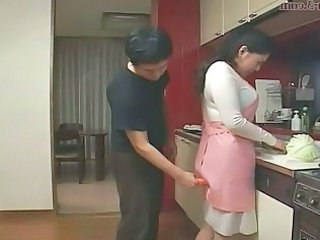 Kitchen Mom Old and Young Asian Mature Japanese Mature Kitchen Mature