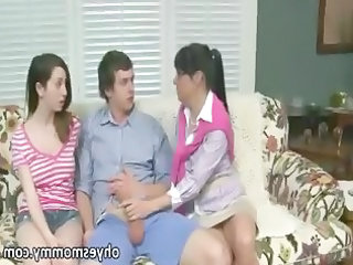 Family Handjob Old and Young Family Old And Young Stepmom