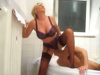 Licking Blonde Lingerie Bathroom Tits Big Tits Blonde Big Tits Milf