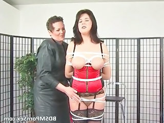 bondage game where brunette busty mature babe