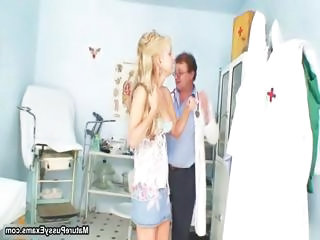 Doctor Teen Abuse Blonde Teen Bus + Teen
