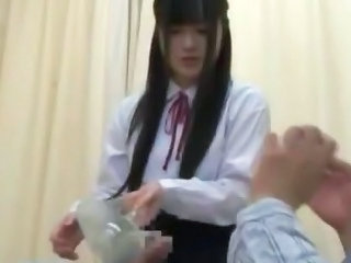Nice teen slut in school uniform hardcore action