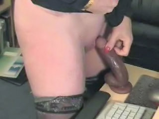 Dildo Mom Homemade Stockings