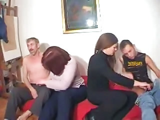 Russian Homemade Groupsex Orgy