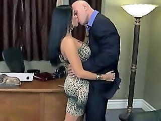 Office Secretary Big Tits Milf Boss Kissing Tits